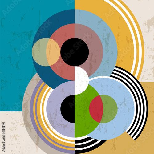 Obraz na Plexi abstract background, vintage/retro geometric design, grungy