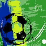 soccer / football illustration,copy space, soccer ball
