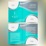 booklet catalog brochure folder design template geometric abstra