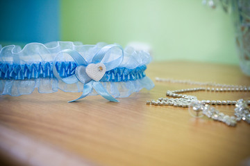 Wedding garter of the bride