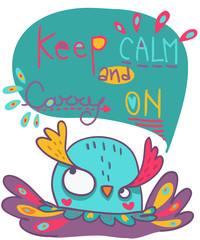 gufo keep calm and carry on