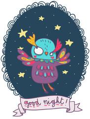 gufetto colorato buona notte