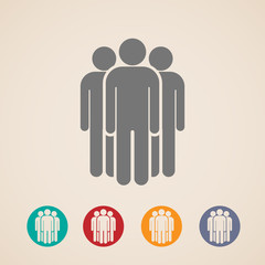 vector icons of people group