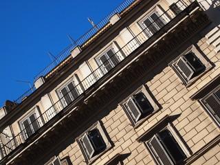 Facciata di edificio come sfondo