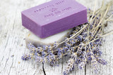 Fototapety natural soap with dried lavender