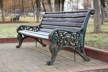 Bench for relaxing in the park