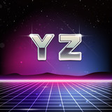 80s Retro Sci-Fi Font from Y to Z poster