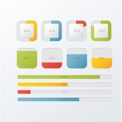 Vector loadings and progress bars for website or application.