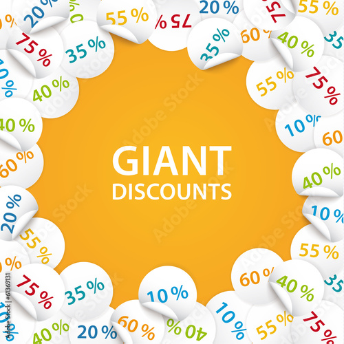 Vector universal banner for your promotion. Composition of sale