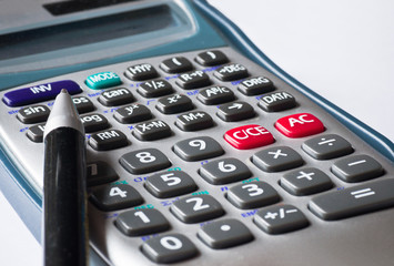 Business calculator and pen