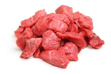 Raw Casserole Beef Diced