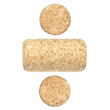 set new wine corks isolated on white background
