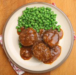 Faggots, Peas and Gravy