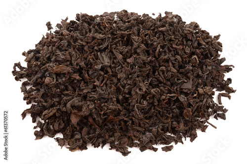 tea on a white background