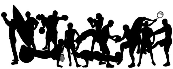 Vector silhouette of sports.