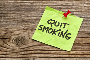 quit smoking reminder note