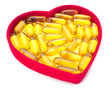 Fish Oil in Heart Shaped Box