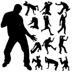 Vector silhouette of dance.