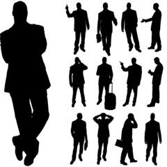 Vector silhouette of man.