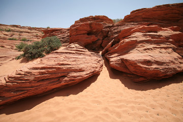 rock formations in Glen Canyon, Arozona, USA