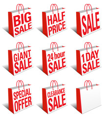 SALE Shopping Bags Icon - Carrier Bag Symbol