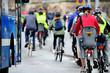 Leinwandbild Motiv Bike crowd