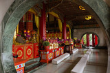 Altar inside the Zhinan Temple in Taipei, Taiwan