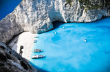 Paradise Navagio bay and beach. Zakynthos, Greek islands