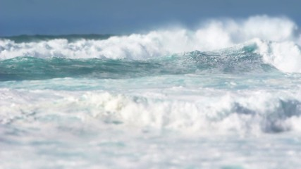 Rough sea (tilt shift technique)