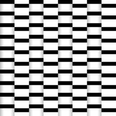 Abstract seamless illusion paper stripes monochrome pattern