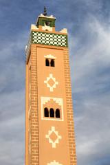 Minarett der Moschee in Ait Benhaddou, Marokko