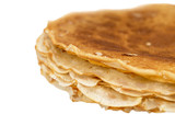 fried pancakes on white background