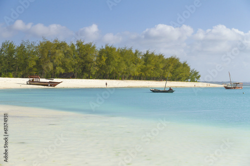Scenic view of Kendwa beach in Zanzibar