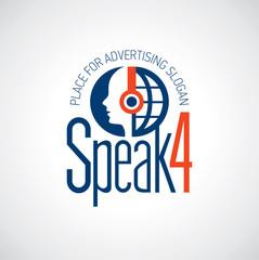 Logotyp słuchaj i mów