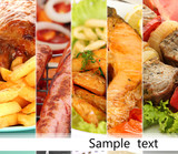 Collage of dishes for restaurant menu