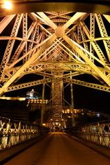 ポルトドンルイス1世橋の夜景