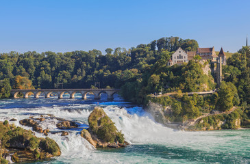 Rhine Falls and castle Laufen