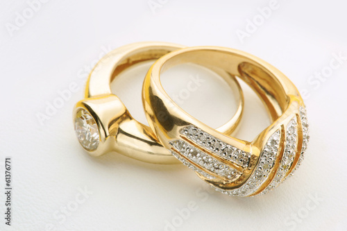 Jewelry Gold rings with diamond - 61376771