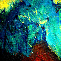 abstract chaotic painting , illustration, background