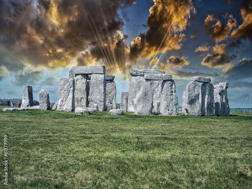 Beautiful view of Stonehenge site