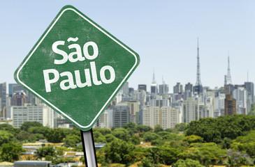 Sao Paulo Sign on the skyline, Brazil