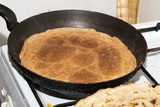 pancakes fried in a pan