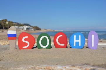 Sochi, Russia, souvenir on stones