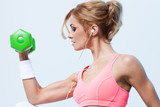 Fitness with dumbbells - 61379398