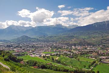 Sion (Sitten) , die Hauptstadt des Kantons Valais (Wallis)