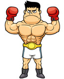 Vector illustration of Boxing champion