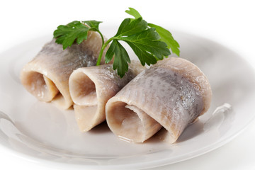 Herring served with persil