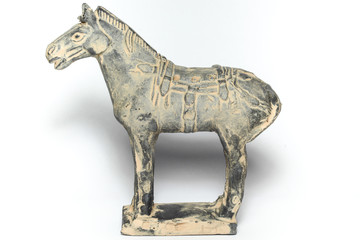 Terra Cotta horse by ancirent china