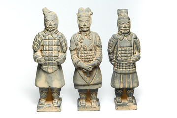 Three Terra Cotta Warriors by ancient china
