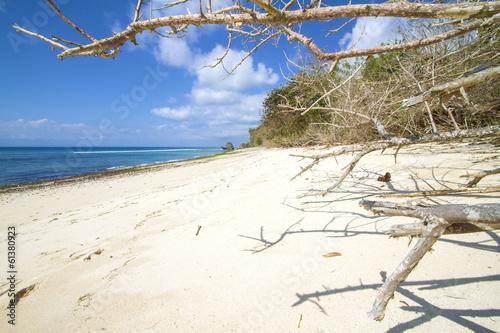 Poster deserted beach.